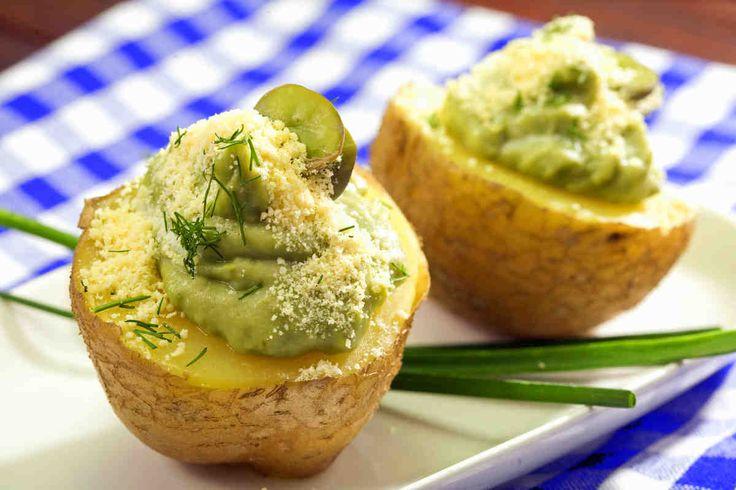 Pieczone ziemniaki z musem z bobu #smacznastrona #poradytesco #ziemniaki #bób #pieczoneziemniaki #mus #mniam