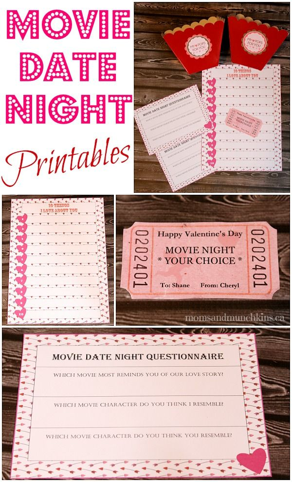Free Movie Date Night Printables http://www.momsandmunchkins.ca/2014/02/03/movie-date-night-printables/ #MovieNight