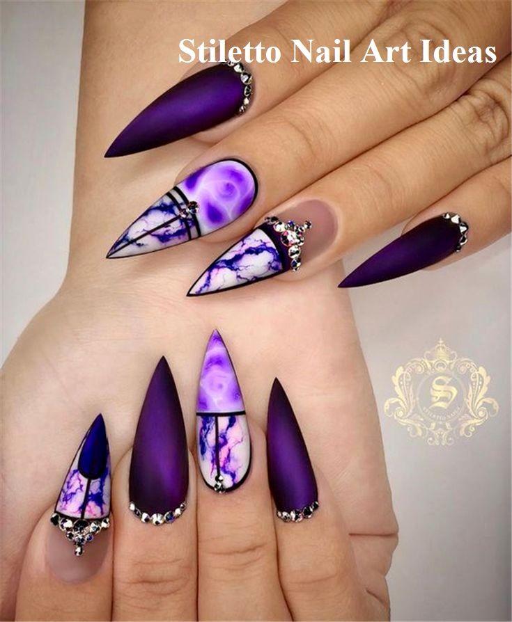 Always Wanted Stiletto Nails Nail Art Nail Shapes Stiletto
