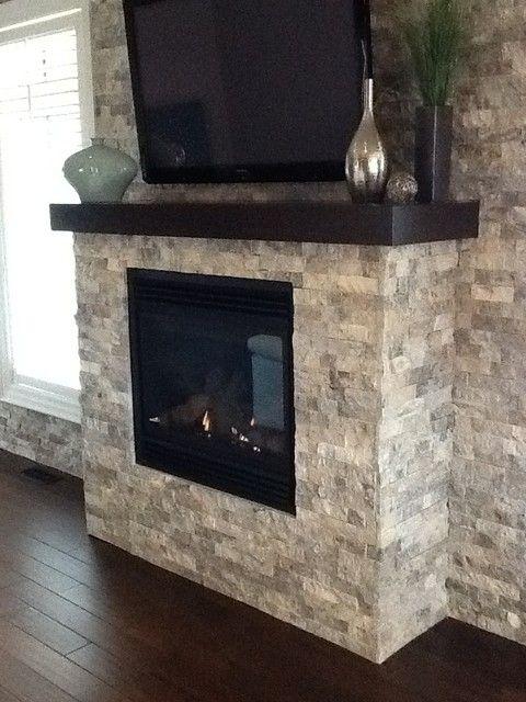Travertine Stone Fireplace Designs : Ideas about basement fireplace on pinterest fall