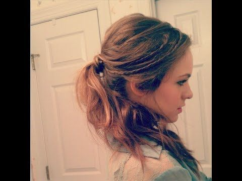 This is a simple and cute ponytail with braid that you can wear everyday!