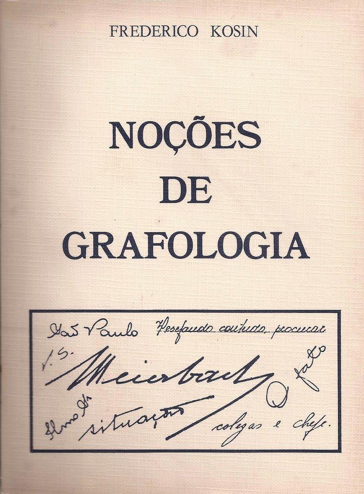 Nociones de Grafología | Frederico Kosin | San Pablo | Brasil |1957