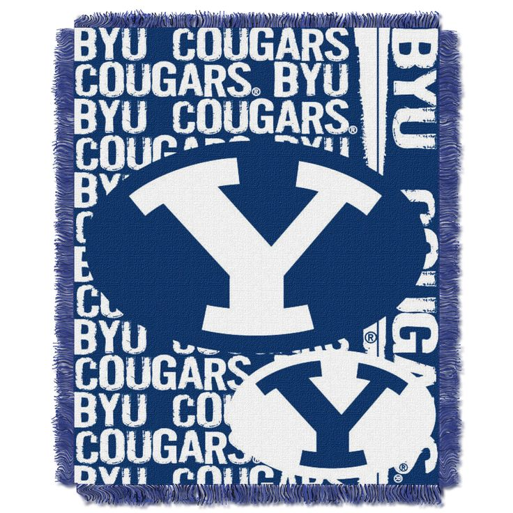 BYU College 48x60 Triple Woven Jacquard Throw - Double Play Series