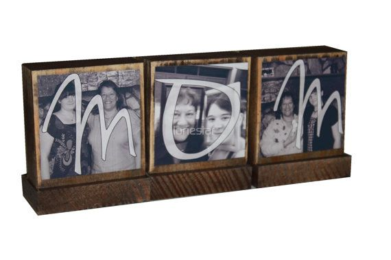 PERSONALIZED PHOTO GIFTS-Great Mothers Day Gifts for Mom-Personalized wooden photo blocks-Great Christmas Gifts on Etsy, $8.00