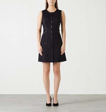 MARCS | All Womens - CATY CONTRAST STITCHING SLEEVELESS DRESS