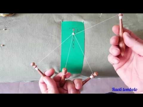 (1) Merletto a tombolo - Le Palmette - YouTube