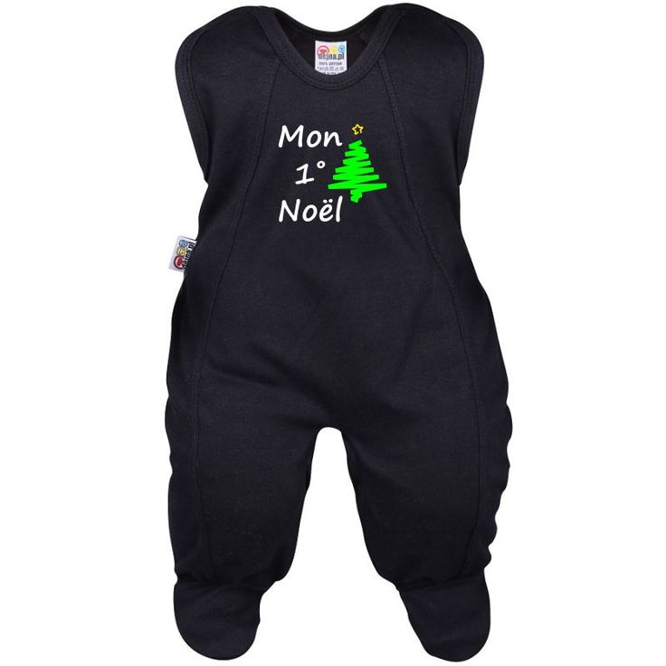 Grenouillère bébé : MON 1° NOËL