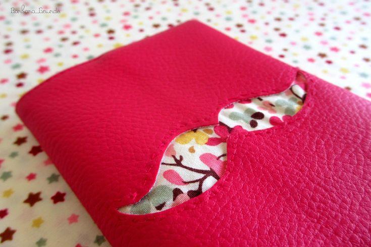 Housse de passeport simili cuir et liberty Nina Tailor by Barbara Gourde