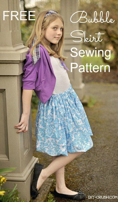 Free Bubble Skirt Sewing Pattern | DIY Crush: