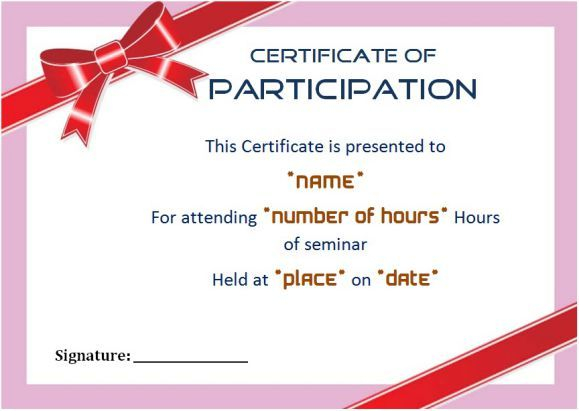 Best 25+ Certificate of participation template ideas on Pinterest - certificate of participation format