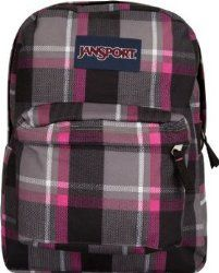 Another plaid style backpack that you might be interested in is called the Jansport Backpack Superbreak New Storm Grey Duke Plaid Pink Black White for School Work or Play.