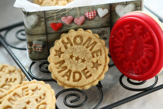 Peanut Butter Spelt Homemade Stamped Cookies