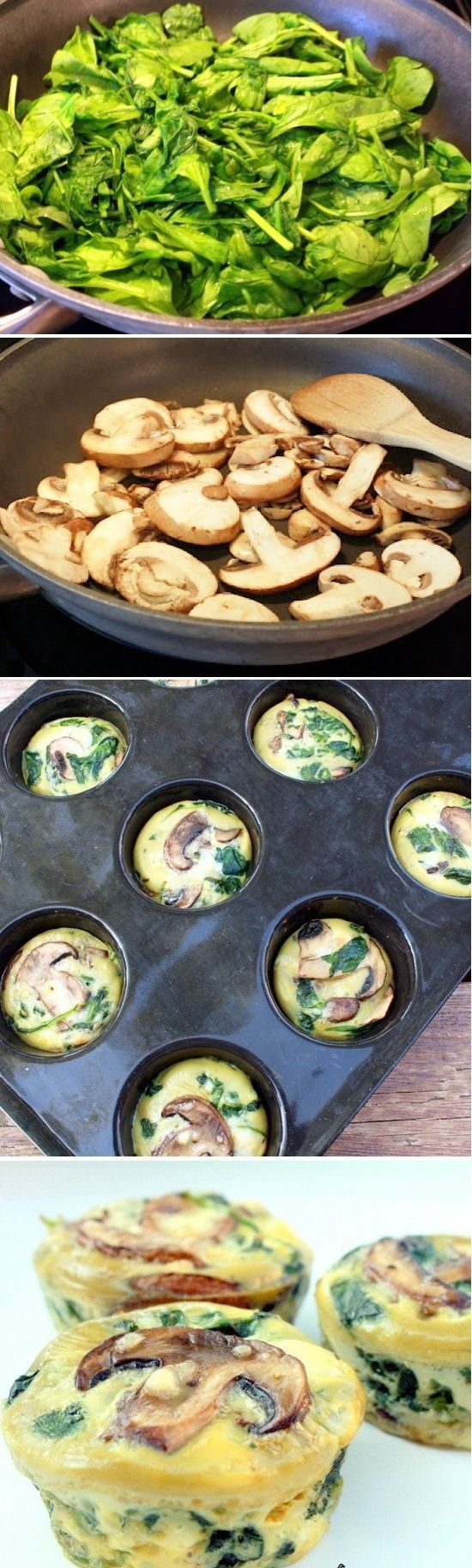 Healthy Spinach Mushroom Quiche Cups Recipe. Completely gluten-free and low-carb healthy and delicious SPINACH QUICHE CUPS that everyone will enjoy. Perfect for breakfast or brunch!