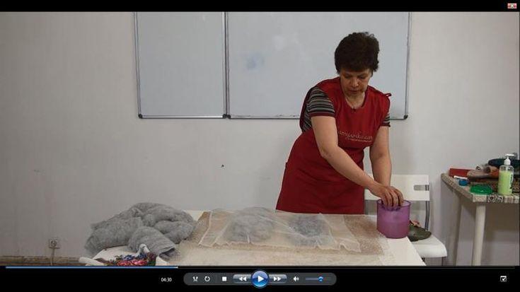 Видео МК Ирины Полубояриновой «Валяем тапки-шлепанцы»