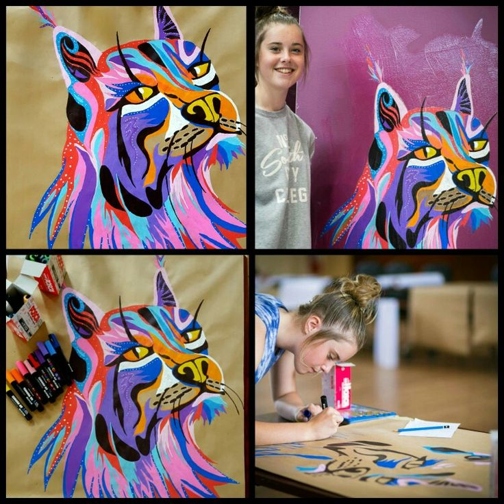 Hi guys! I had an amazing experience learning how to create a paste up which is a form of graffiti. I painted a massive Lynx using poscas and pasted it up in my local library using a wheat paste. I'm really amazed with how it turned out and  I'm so happy to be able to get this publicity! Thank you guys! By Bonnie Leggett  (don't mind my face in it I'm horrible at smiling unless it's a selfie)