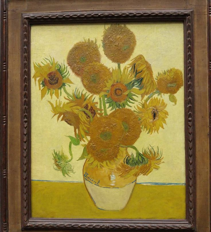 Подсолнухи Ван Гога  Sunflower by Vincent van Gogh.Yep  #London #Sunflower #vangogh. #nationalgallery by mishavernik
