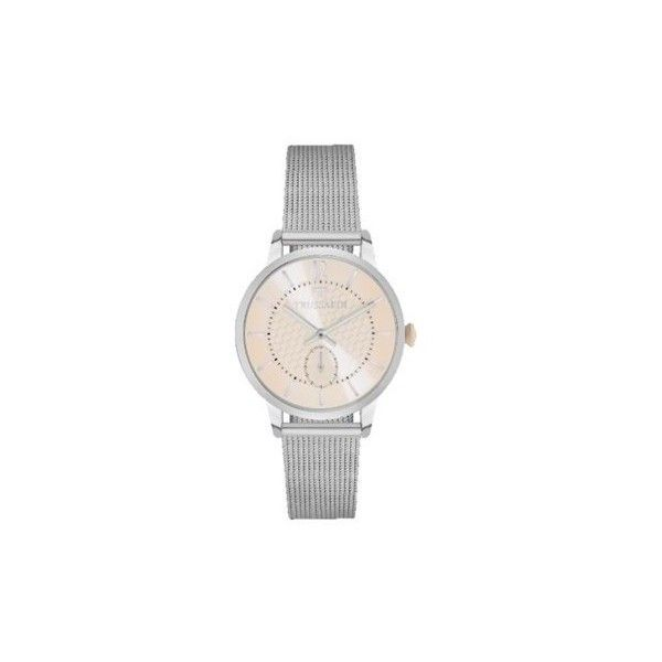 Trussardi My Time Women's Silver Stainless Steel Watch (18.000 RUB) ❤ liked on Polyvore featuring jewelry, watches, trussardi, stainless steel watches, silver wrist watch, silver jewellery and stainless steel jewelry