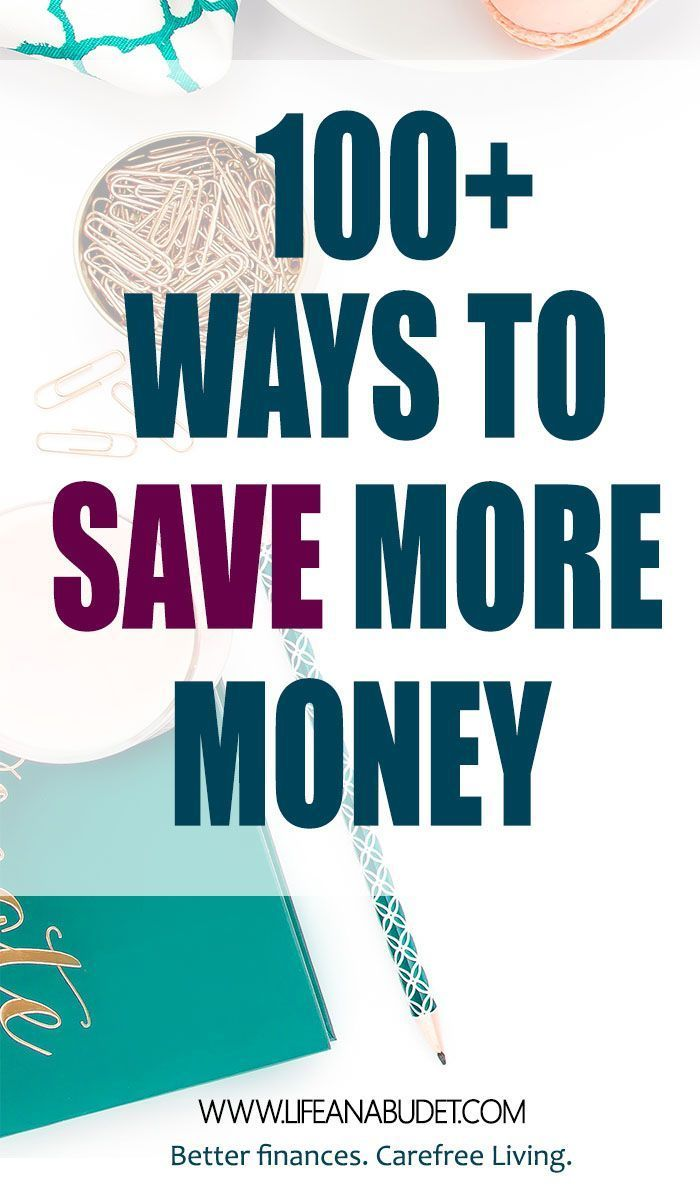 Living paycheck to paycheck. Need to learn how to save more money? Here are over 100 ideas that will help you save money today. via /lifeandabudget/