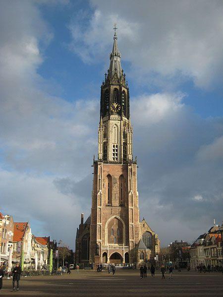 Die Nieuwe Kerk (neue Kirche) am Marktplatz in Delft. www.claudoscope.eu