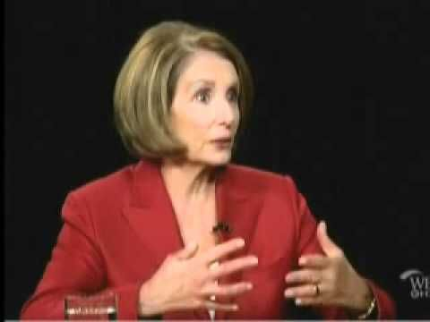 Nancy Pelosi Makes a Fool of Herself on Charlie Rose's Show - YouTube