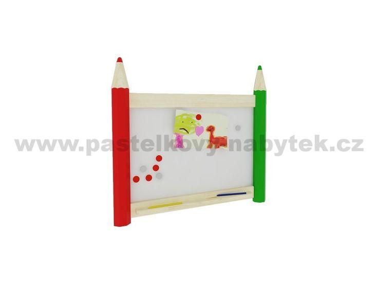 Nástěnná magnetická tabule malá | Dětský dřevěný nábytek - BOB nábytek