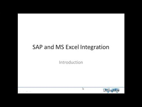 SAP EXCEL INTEGRATION  #Mastering Data #Master Data Management #robotics
