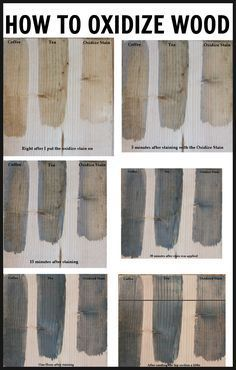 How to oxidize wood with vinegar and steel wool over coffee or tea.