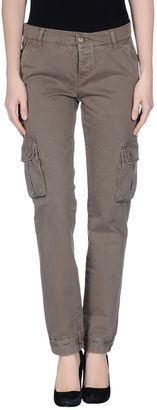 MANILA GRACE Casual pants - Shop for women's Pants - Military green Pants