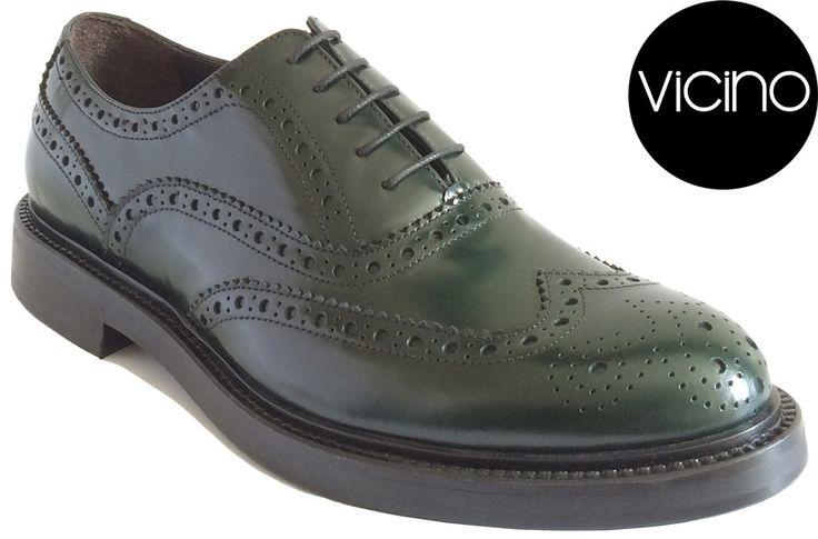 Classic Wingtip Oxford (Green) | Vicino Italian Men Shoes – Vicino Italian Handmade Shoes for Men
