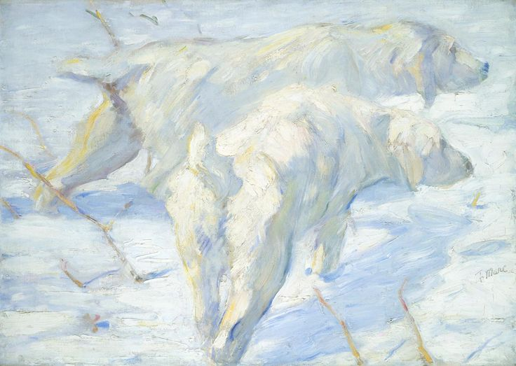 FRANZ MARC, Siberian Dogs in the Snow, 1909