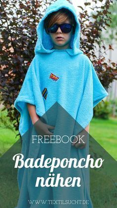 In this sewing guide, I show you how to easily a Badeponcho with a …   – Nähen || Schnittmuster, Stoffe, Tipps, Inspiration
