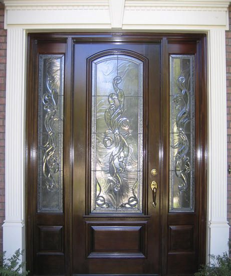 13 best images about front entry doors windows on pinterest canada home remodeling and antigua for Exterior front entry wood doors with glass