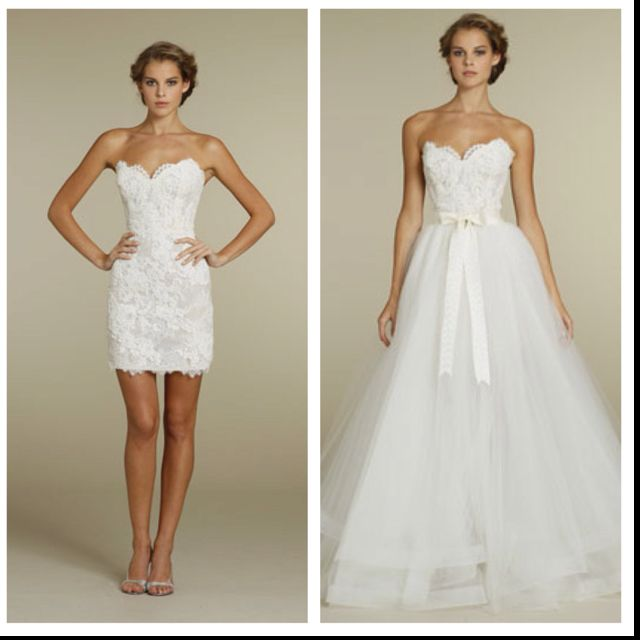 2 in 1 wedding dress