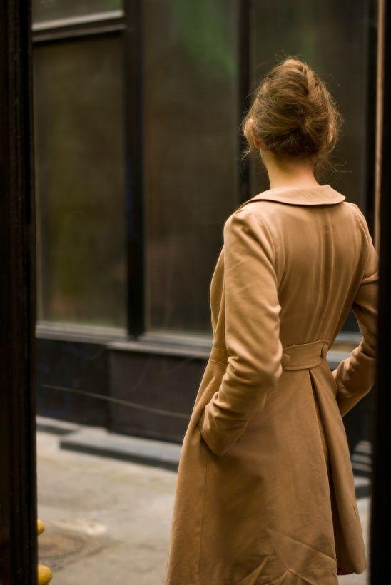Stermaria's gorgeous Pavot coat using a pattern from Deer & Doe #sewing #coat #deeranddoe