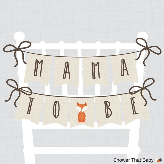 Hey, I found this really awesome Etsy listing at https://www.etsy.com/listing/226377145/woodland-baby-shower-chair-banner-mama