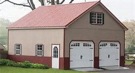 Exceptional Two Story Garage Kits #10 2 Story Amish Garages