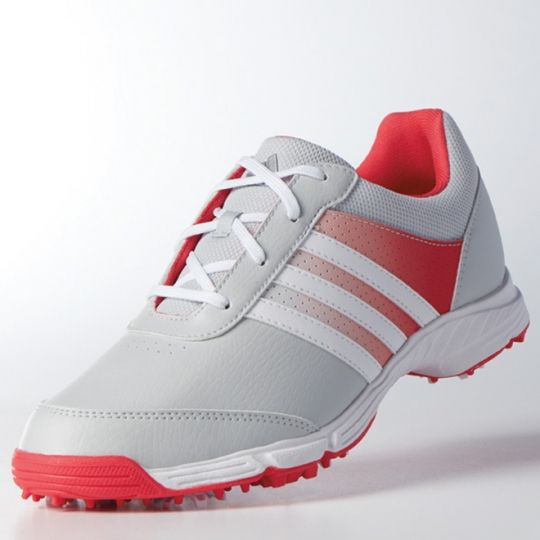 Grey/White/Pink Adidas Ladies Tech Response Golf Shoes! Sports shoes that match your outfits at #lorisgolfshoppe
