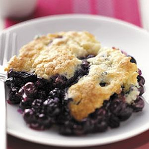 Blueberry Biscuit Cobbler Recipe from Taste of Home -- shared by Mary E. Relyea of Canastota, New York