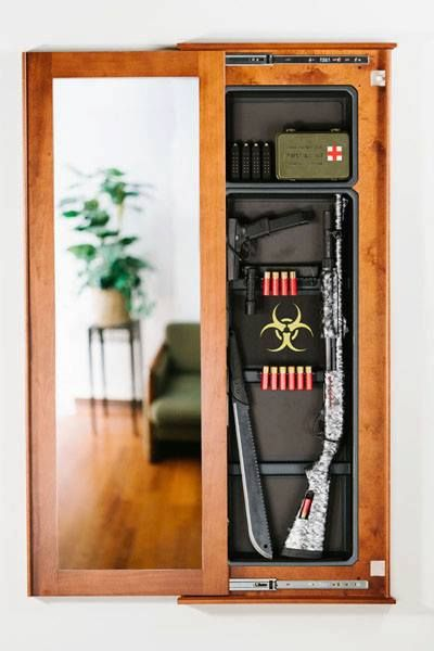 Hidden Gun Cabinet Mirror Woodworking Projects Amp Plans