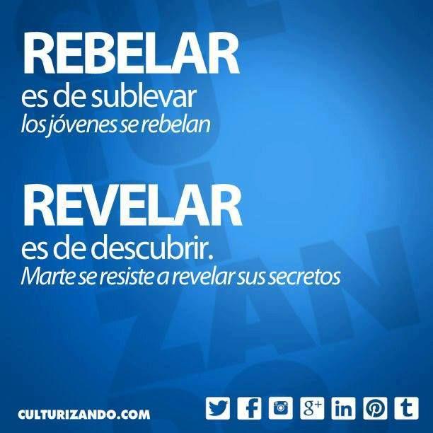 rebelar vs revelar