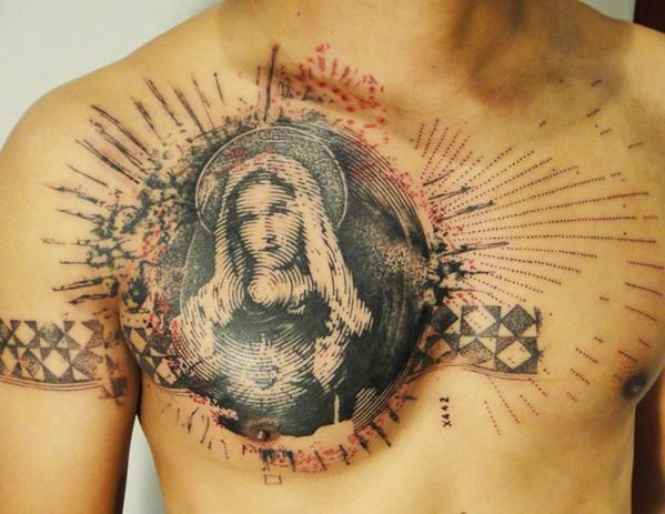 Abstract Religious Tattoo by Xoil Tattoo - http://worldtattoosgallery.com/abstract-religious-tattoo-by-xoil-tattoo-2/