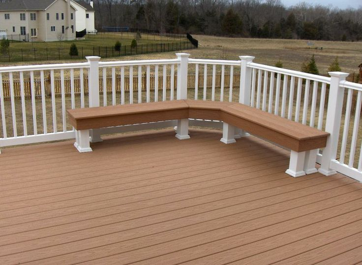 Deck with Bench by Long Fence