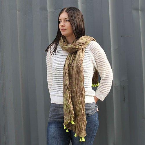 Moss Teal Antique Tassel Scarves Wholesale - HipAngels.com #Summer_Quality_Scarves #Quality_Summer_Scarves #Indian_Summer_Scarf #Indian_Summer_Scarves