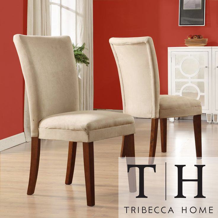 Parson classic upholstered dining chair set of 2 by for Inspire q dining room chairs