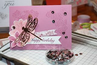 Dragonfly Dream sneak peak, Flower Patch, Stampin' Pals: Fancy Frost CTC105