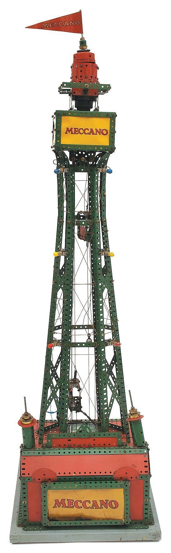Meccano factory built window display model of Blackpool Tower,… - Building Sets/Leggo/Mechano - Toys & Models - Carter's Price Guide to Antiques and Collectables