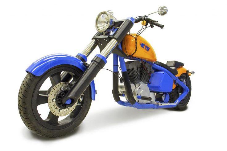 Le llega el turno a las dos ruedas, una motocicleta realizada por impresión 3D