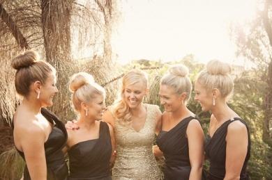 sparkly art deco lace Bridal Party elegant bridesmaid bridesmaids dresses hair photography wedding Tasmania