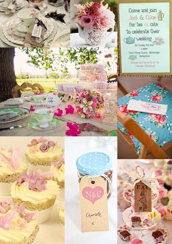 Afternoon Tea Wedding Reception Ideas from The Wedding Community