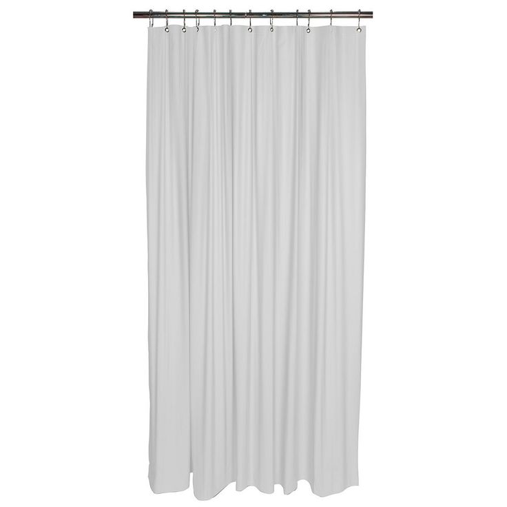 Bath Bliss Heavy Weight Mildew Resistant Shower Curtain Liner, White